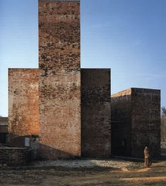 Terracotta Brick. Siddhartha Children and Women's Hospital, by Tadao Ando, 1998, in Butwal, Nepal.