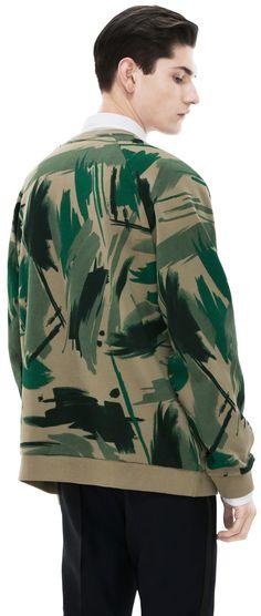 Brian Print Green Camoflage by ACNE Studios #menswear