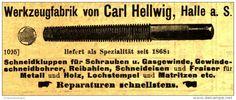 Original-Werbung/ Anzeige 1901 - WERKZEUGFABRIK CARL HELLWIG HALLE a.S. - ca. 100 x 40 mm
