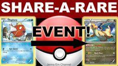 #Pokemon Cards: Share-a-Rare Event! PTCGO Jenna Em  INFO: https://youtu.be/3-h-s4h5_9w  #PokemonCommunity #PokemonTrainer #PokemonCards #PokemonTCG #PokemonTCGO #PTCGO
