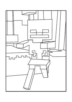 minecraft mobs coloring pages | A Minecraft Mobs coloring page | Mindcraft Birthday Ideas ...