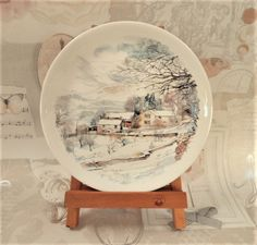 Poole Pottery Winter in the Dales Vintage by BelieveToBeBeautiful