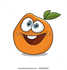 Cute Orange illustration, Sweet fruit character design