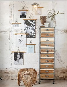 Tendance : FrenchyFancy gallery wall with drawer stand on wheels
