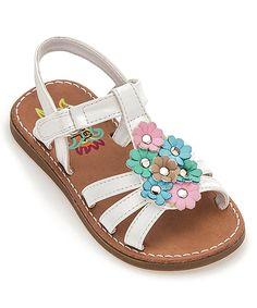 3b78444e2 Rachel Shoes White   Pink Flower Trina Sandal. Baby Girl ShoesKid ShoesGirls  ...