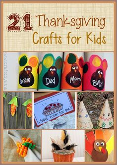 21 Thanksgiving Crafts for Kids |