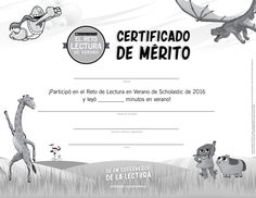 {Spanish version} Once the summer is over and kids have reached their goal for summer reading, reward them with this certificate of achievement! Click through to learn more about the Scholastic Summer Reading Challenge! #summerreading