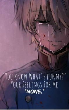 "Sad Quote. Anime:Aldnoah Zero ""Not so Funny."""
