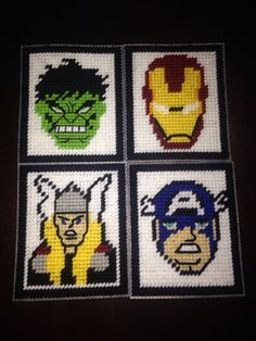 Marvel Heroes plastic canvas tissue box cover