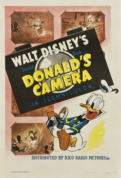 Theatrical poster of Donald Duck in Donald's Camera.