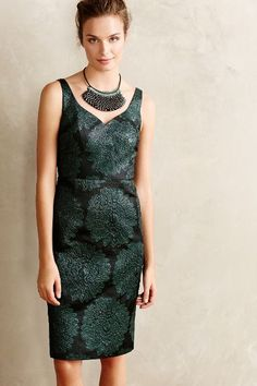 Hidden Blooms Sheath - anthropologie.com