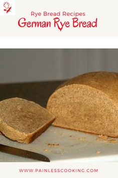 Learn how to make rye bread recipes. This German Rye Bread Recipe is shaped in a loaf and baked for 30 to 35 minutes. German Rye Bread Recipe, Rye Bread Recipes, Tasty Bread Recipe, German Recipes, Bread Bun, Bread Cake, Dessert Bread, Bread Rolls, German Baking