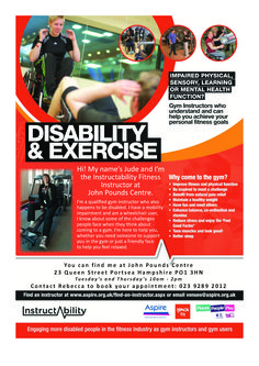 Instructability  Disability Fitness trainer  Email: reception@johnpoundscentre.co.uk and ask for a Centre Activities and Programme to be emailed to you. 23, Queen Street John Pounds Walk Portsmouth PO1 3HN UK +44 (0)23 9289 2012 rebecca.spencer@johnpoundscentre.co.uk http://www.johnpoundscentre.co.uk  #disability #johnpoundscentre #community #fitness #personaltraining #coaching #gym #health #exercise