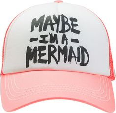 Maybe I'm a Mermaid... @Billabong http://www.swell.com/Womens-Accessories-New-Products/BILLABONG-ITS-TIME-TRUCKER-HAT-2?cs=LC