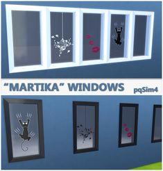 "pqSim4: ""Martika"" Windows. Sims 4 Custom Content."