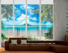 Luxury Fensterfolie Sichtschutz Fenster Traumurlaub Fensterbilder