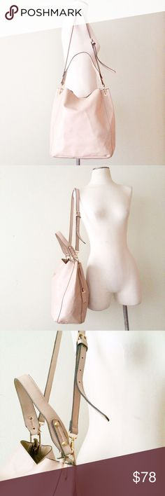 Top Handle Crossbody Bucket Bag EUC. The perfect color + super on trend. Black trim w/ gold hardware. Minor wear on surface and handles. David Jones brand. Listed for exposure. Rebecca Minkoff Bags Crossbody Bags