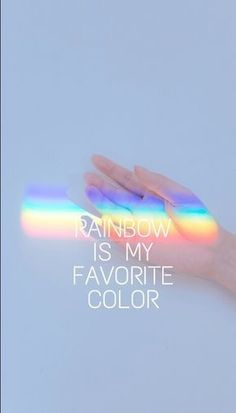 Rainbow is my fave color