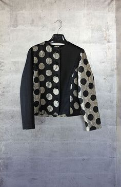 Jean Jacket. Black and silver dots.