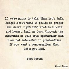 Ah, those late night/early morning conversations... how I miss them
