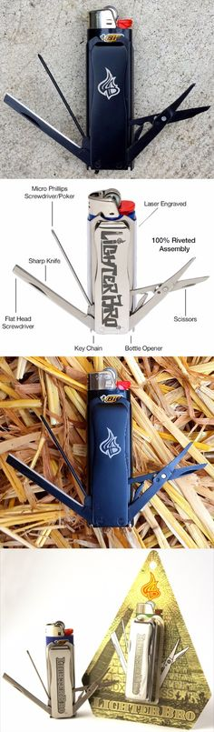 LighterBro - Lighter Sleeve EDC Everyday Carry Multi Tool @thistookmymoney