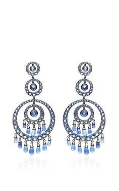 Blue Scheherazade Earrings by Nam Cho for Preorder on Moda Operandi