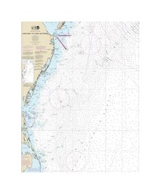 Cape May To Cape Hatteras Nautical Chart Sailcloth Print