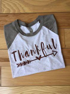 Women's Thankful Shirt Thanksgiving Shirt Grateful