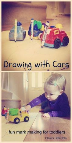Drawing with cars!
