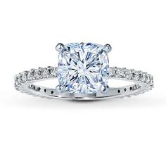Kay ring with cushion cut diamond. $999.00 before the center diamond. Yes pleaseeee <3