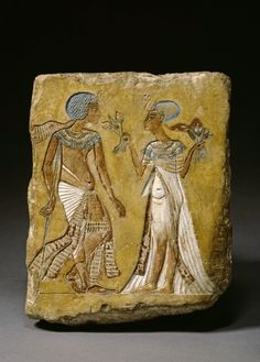 Relief depicting a king and Queen. Historical Dating: Amenhotep (Amenophis) IV / Akhenaten. © Foto: Ägyptisches Museum und Papyrussammlung der Staatlichen Museen zu Berlin - Preußischer Kulturbesitz