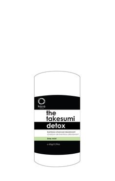 The Takesumi Detox Charcoal Deodorant Lime Mint