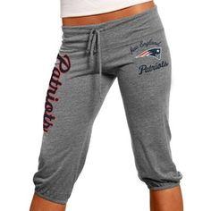 #Fanatics New England Patriots Ladies Touchdown Tri-Blend Crop Pants - Steel