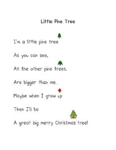 oh christmas tree poem for children homemade cards - Bing images Christmas Tree Poem, Preschool Christmas Songs, Preschool Poems, Kindergarten Poems, Christmas Program, Christmas Concert, Kids Christmas, Kindergarten Christmas, Christmas Songs For Toddlers