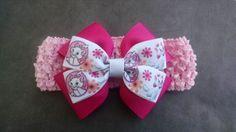 Kitten Headband Pink Headband Cat Headband by GloriaMillerCreation, $6.00