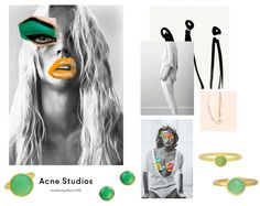 Styling by isabellamalmberg showing Bubble Facet Ring Green Xlarge Gold, Bubble Ear Studs Green Small Gold, Bubble Ear Studs Green Small Gold, Bubble Ring Green Small Gold and Bubble Facet Ring Green Small Gold #jewellery #Jewelry #bangles #amulet #dogtag #medallion #choker #charms #Pendant #Earring #EarringBackPeace #EarJacket #EarSticks #Necklace #Earcuff #Bracelet #Minimal #minimalistic #ContemporaryJewellery #zirkonia #Gemstone #JewelleryStone #JewelleryDesign #CreativeJewellery…