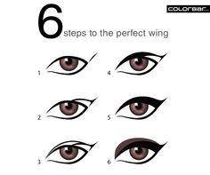 Winged eyeliner can be an alluring, sultry style when done right! Here are 6 steps to ace this classic look! Get your tools for the perfect wing online. Log on to www.colorbarcosmetics.com  #eyeliner #wingedeyes #classic