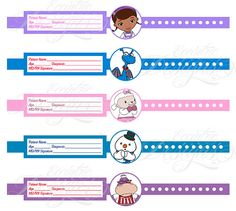 Doc McStuffins Birthday Wristbands You Print por LatishaHorton