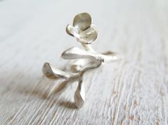 BRANCH // Sterling silver ring by masaoms on Etsy, €70.00