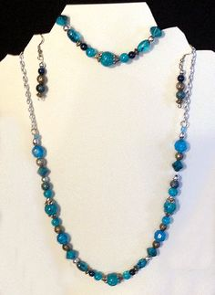 Necklaces with Matching Bracelet and Earrings, $18