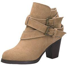 14bcef4d438603 MatchLife Women s High-heeled Zipper Up Winter Shoes Booties UK 2 Black
