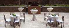 With a pergola and mosaic fountain, Kipuka Courtyard is a charming space for a smaller cocktail reception.