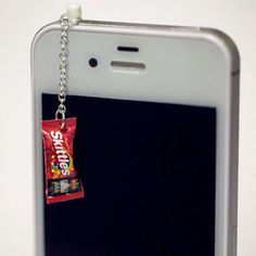 Kawaii SKITTLES CANDY Iphone Earphone Plug/Dust Plug - Cellphone Headphone Handmade Decorations