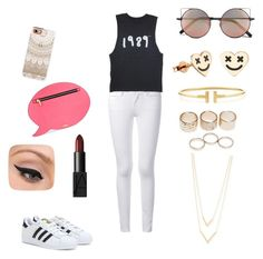 Casual outings by yasmeenf on Polyvore featuring polyvore, fashion, style, Frame Denim, adidas, Skinnydip, Tiffany & Co., Jennifer Zeuner, Wet Seal, Linda Farrow, Casetify, NARS Cosmetics and LORAC