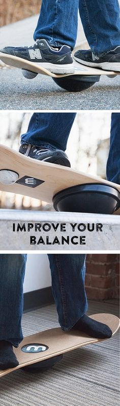 Improve your center of balance and agility—and practice full spins of 360º or more—with this fun-but-challenging balance board.