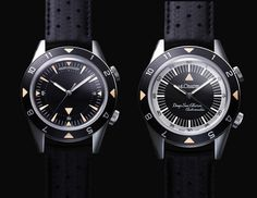 Jaeger-LeCoultre Memovox Deep Sea re-edition.  Almost 40 years after The Memovox Deep Sea, the first diver's watch by Jager-LeCoultre, sees the re-edition of these two models in limited series.