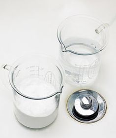 Homemade #Drano! 1/2 cup baking soda, 1/2 cup salt (put in drain) and then gently pour approx. 1/2 cup of vinegar. Leave for 10-15 mins then pour in pot of hot water.