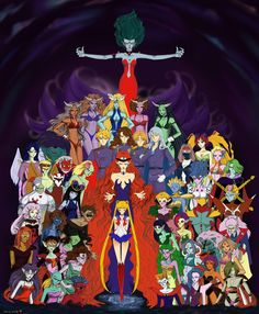 Dark Kingdom Invasion by ~Dark-elfa on deviantART Sailor Moon Villains, Sailor Moon Manga, Sailor Moon Art, Sailor Moon Crystal, Disney Marvel, Pokemon, Kingdom Hearts Crossover, Sailor Saturno, Poster Anime