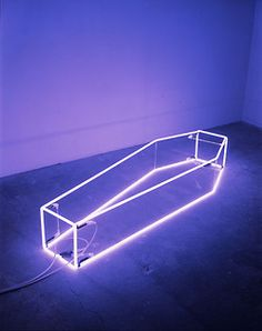 Sarah Lucas,New Religion  ...I thought perhaps it was a coffin tanning booth....