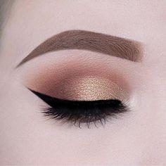 Rose gold eye makeup